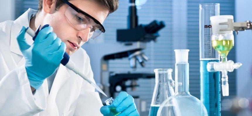 lab worker man